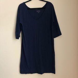 Lilly Pulitzer Navy V-Neck Loose Fitting Dress M